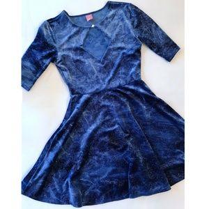 nwot Velvet Glitter (Ice) Skater Dress